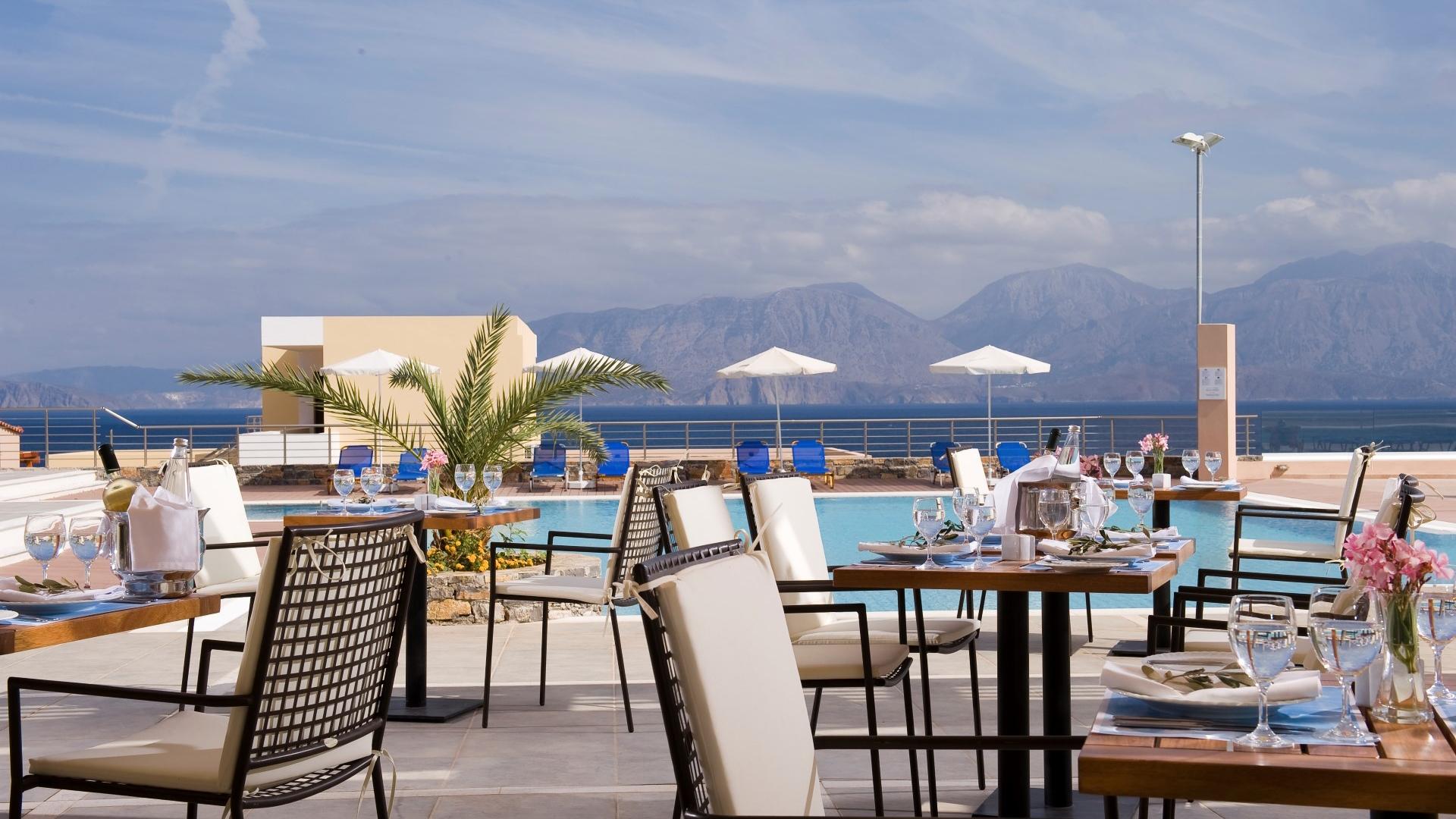 Carte Snorkeling Crete.Aegeon Pool Bar A La Carte Restaurant Miramare Crete